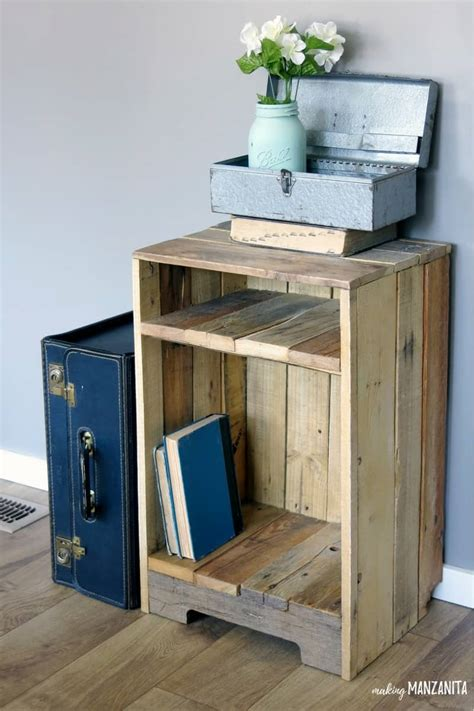 Pallet Wood Side Table With Rustic Style  Making Manzanita