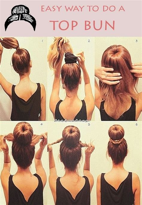 Easy Way To Do A Top Bun #hairstyle Hmmm Should I Wear