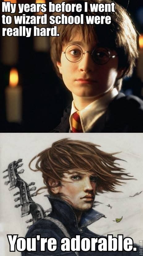Kvothe Meme - harry potter vs kvothe fantasy pinterest the kingkiller chronicles awesome drawings and