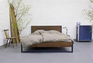 Bett Industrial Design : n51e12 loft vintage industrial bett anthrazit braun ~ Sanjose-hotels-ca.com Haus und Dekorationen