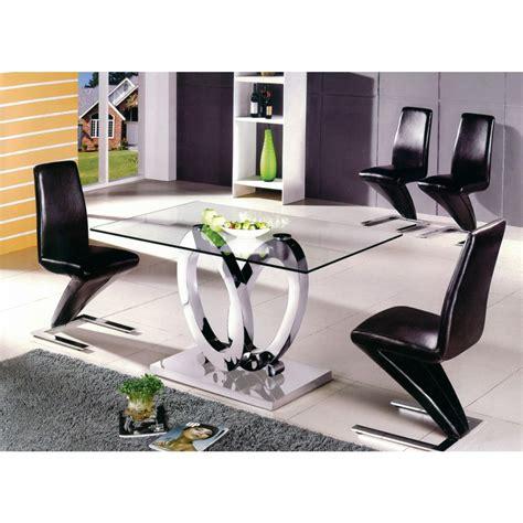 tables et chaises de salle table à manger design ellipse taille au choix