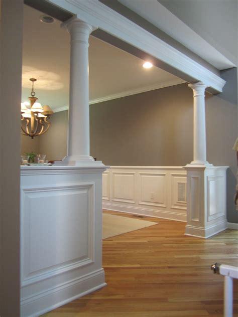half wall with columns bolton ct decor ideas