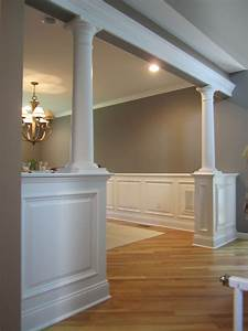 half wall with columns bolton ct decor ideas With decorative interior wall columns