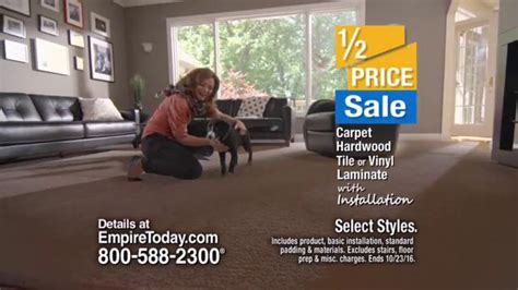 empire flooring ads empire today half price sale tv commercial carpet hardwood tile and more ispot tv
