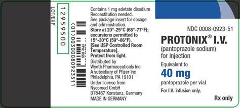 Protonix I.v. (wyeth Pharmaceuticals Company, A Subsidiary