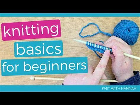 knitting basics  beginners youtube