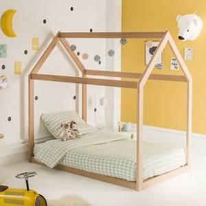 Lit Montessori Cabane : lit montessori cabane 90x140 extensible coloris naturel ~ Melissatoandfro.com Idées de Décoration