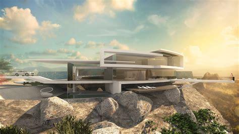 Moderne Häuser Hanglage by Futuristische Villa Am Hang Designstudie Skyhouse Ii