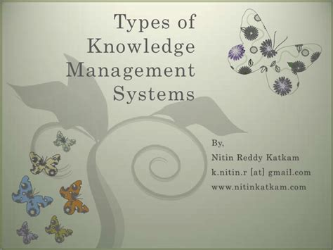 types  knowledge management systems