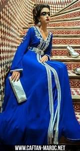 splendide takchita marocaine en soie et en mousseline With robe de cocktail combiné avec swarovski bleu