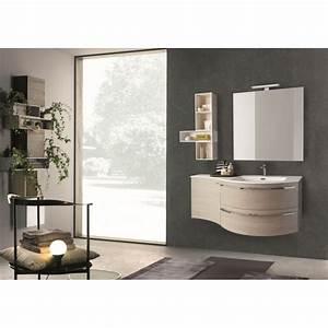 beautiful meuble salle de bain asymetrique photos With meuble de salle de bain arrondi
