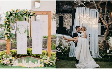 10 simple and pretty wedding backdrops you can make yourself