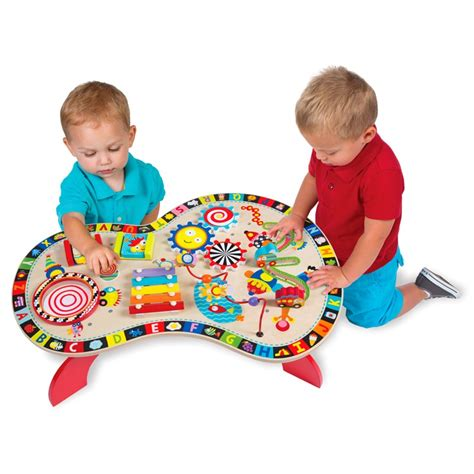 baby activity table wooden sound play busy table musical activity center