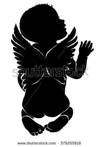 Image result for baby angels silhouette | baby | Baby silhouette, Silhouette art, Angel silhouette
