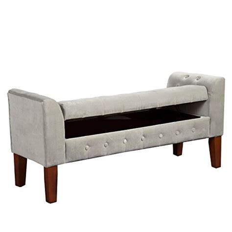 Settee Bench With Storage by Homepop Velvet Tufted Storage Bench Settee With Hinged Lid