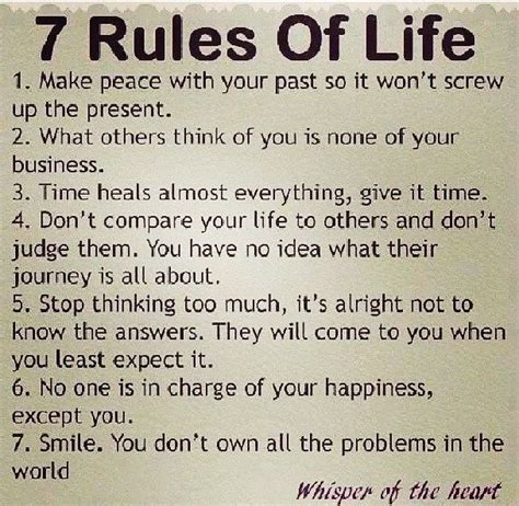 7 Rules Of Life  Words Pinterest