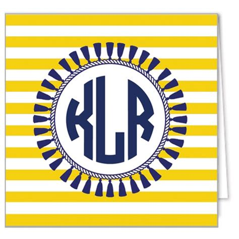 blank ornaments to personalize monogram gift enclosure cards tassel stripe navy by wh
