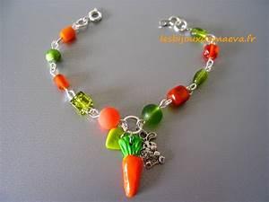 bijoux fantaisie enfant bracelet orange et vert carotte With bijoux fantaisie enfant