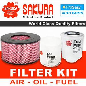 Oil Air Fuel Filter Service Kit For Toyota Hilux Kzn165 3