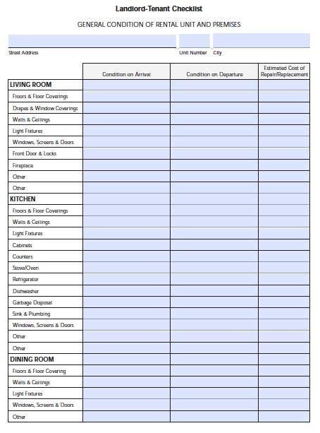 florida landlord tenant move  checklist
