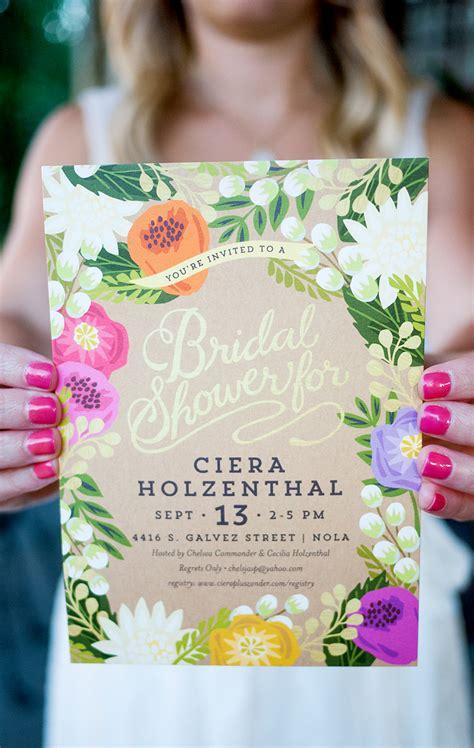 Floral Bridal Shower Invitations - ciera s tropical bridal shower ciera design studio