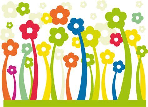 Nine Cartoon Flowers Design Vector