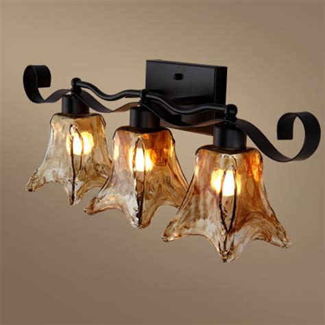 tuscan decorative wall light 3 heads nordic decorative loft country wall sconce