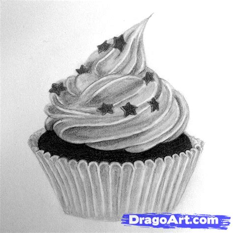How To Draw Cupcakes, Step By Step, Food, Pop Culture