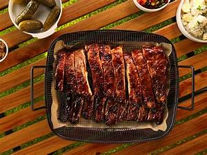 Sticky Bbq Pork Ribs With Potato Salad