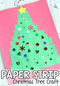 Easy, Paper, Strip, Christmas, Tree, Craft, For, Preschoolers