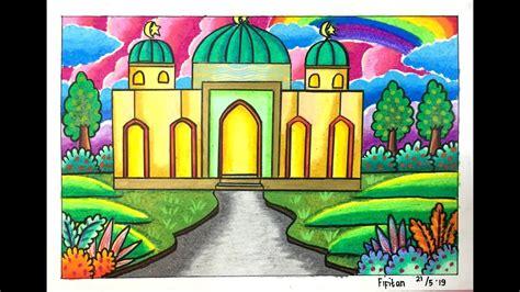 cara gradasi warna ep 132 tema gambar rumah ibadah