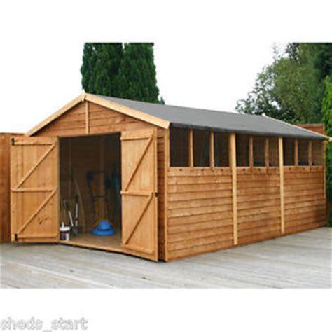 15x10 wooden workshop apex shed overlap garden sheds