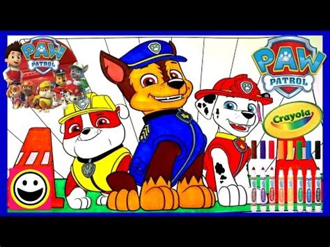 paw patrol pups rubble chase marshall crayola coloring pages crayola coloring book