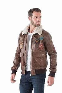 Blouson Cuir Aviateur Homme : veste en cuir aviateur homme blouson schott aviateur homme ~ Dallasstarsshop.com Idées de Décoration