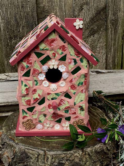 mosaic birdhouse birdhouse garden decor garden