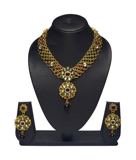 Vk Jewels Kundan Necklace Set Snapdeal price. Sets Deals at Snapdeal. Vk Jewels Kundan Necklace