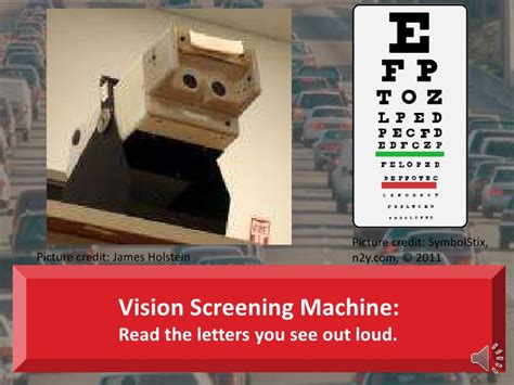 rules   road vision test