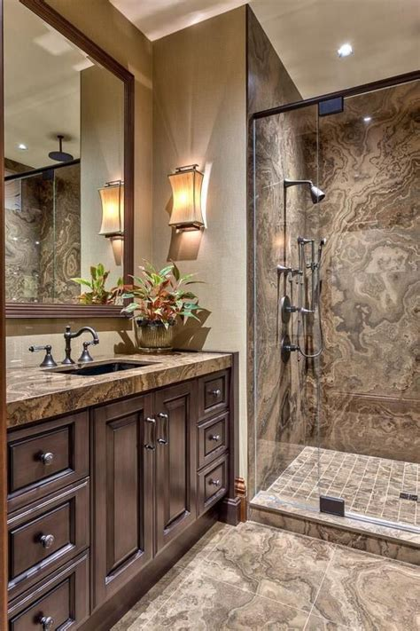 inspiring brown bathroom ideas   love interior