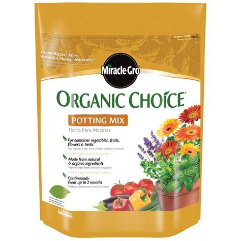 miracle grow 72978510 organic choice 174 potting mix 8 qt