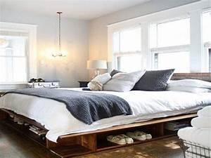 Fabriquer Un Lit En Palette : 34 id es de lit en palette bois a faire pour la chambre ~ Dode.kayakingforconservation.com Idées de Décoration