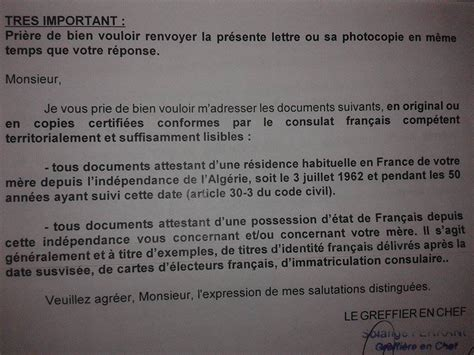 bureau des naturalisation compement dossier pour demande cnf slm mere nationalite