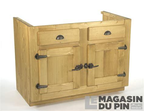 le cuisine sous meuble meuble sous évier 2 portes pin massif pour cuisine avoriaz