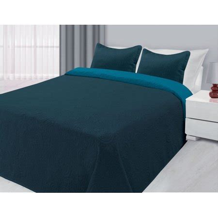 Navy Blue Quilted Coverlet by 3 Reversible Quilted Bedspread Coverlet Navy Blue
