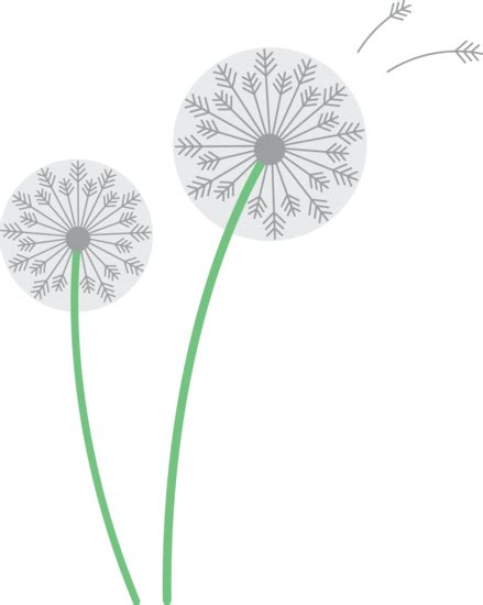 dandelions clipart clipground