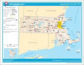 Large Massachusetts Map