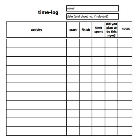 sheets templates 11 time log templates pdf word sle templates