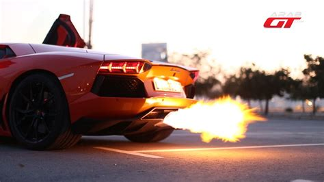 تسارع و صوت سيارة لامبورجيني أفينتادور- Lamborghini ...