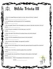 Printable Bible Trivia Questions and Answers