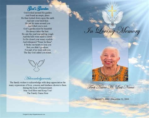 free editable funeral program template 6 free funeral program templates microsoft word website
