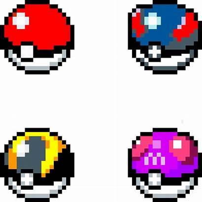 Pixel Ball Pokemon Pokeballs Grid Catching Gen